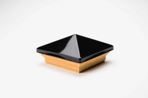 pyramid top post cap black