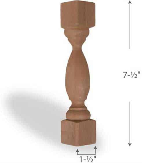 Cedar-2x2-7-Inch-Accent-Spindle